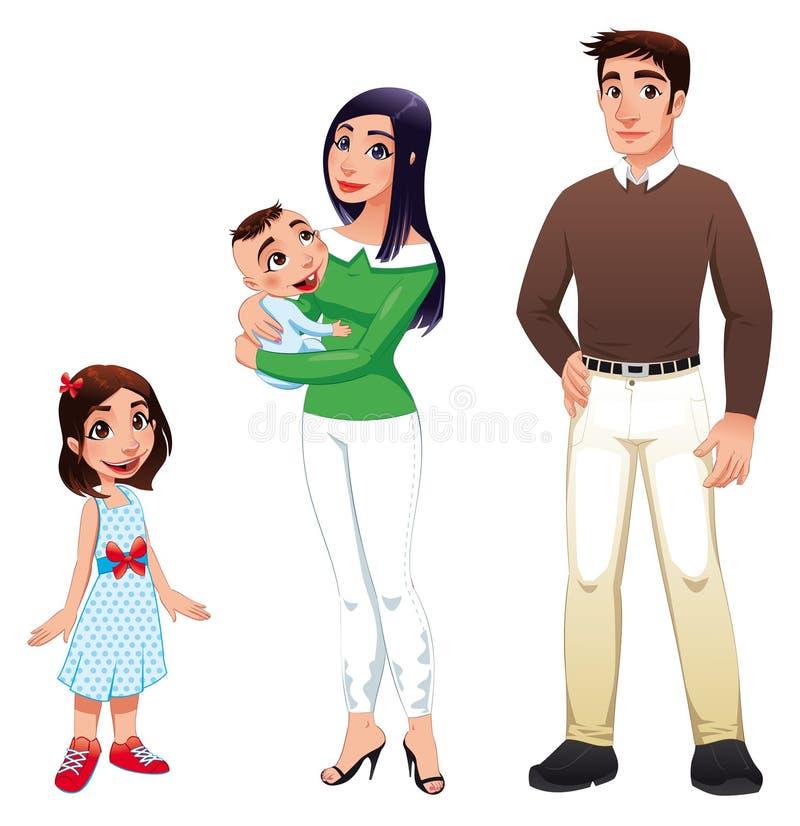 Download Dzieci Rodzinna Ojca Istoty Ludzkiej Matka Ilustracja Wektor - Obraz: 16163323