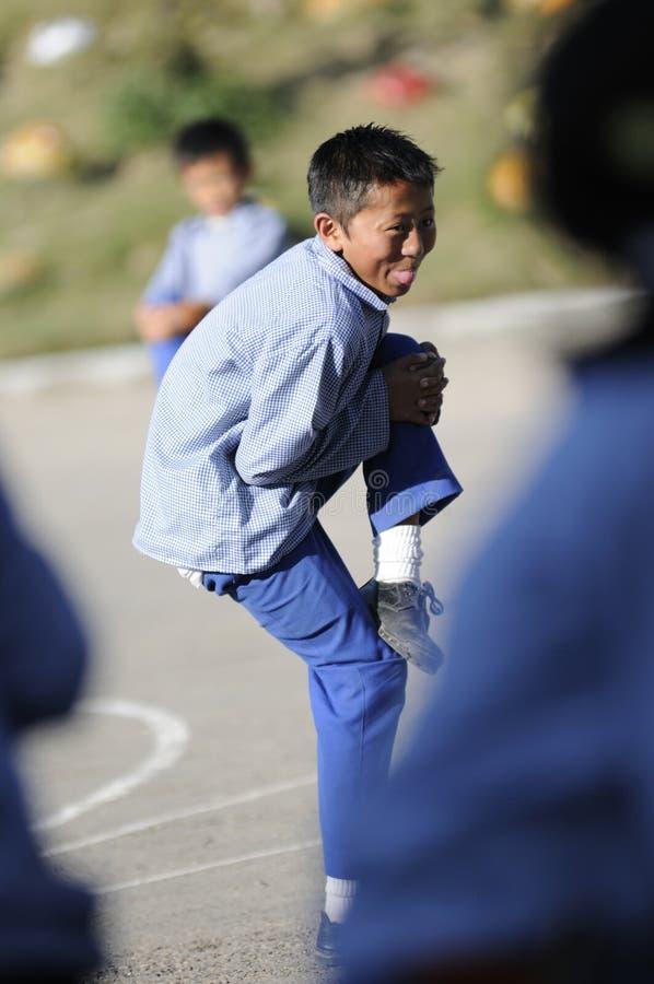 dzieci s tibetan wioska zdjęcia royalty free