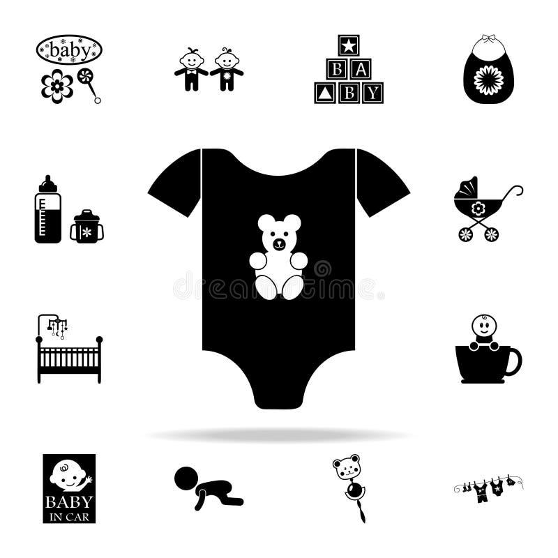 dzieci 's turtleneck ikona Dziecko ikon ogólnoludzki ustawiający dla sieci i wiszącej ozdoby ilustracja wektor