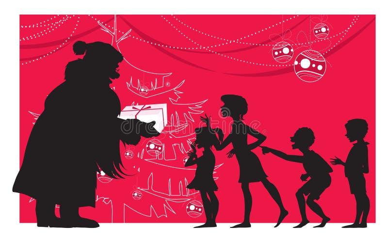 dzieci Santa ilustracji
