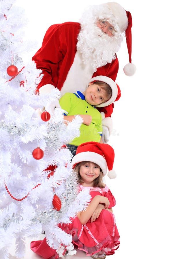 dzieci Santa obrazy stock