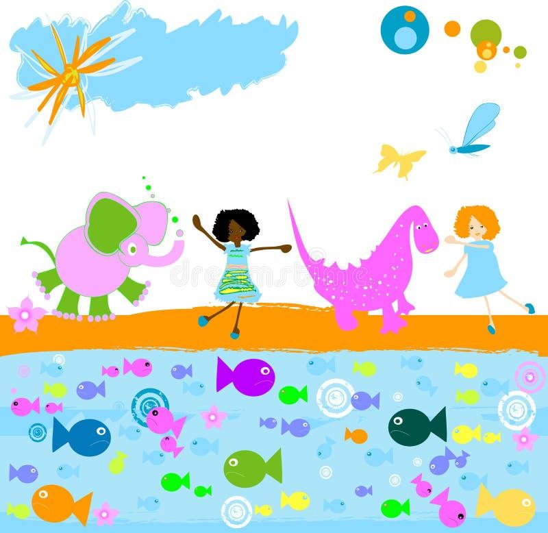 dzieci się ilustracji