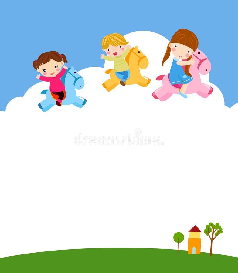 dzieci się grać ilustracja wektor