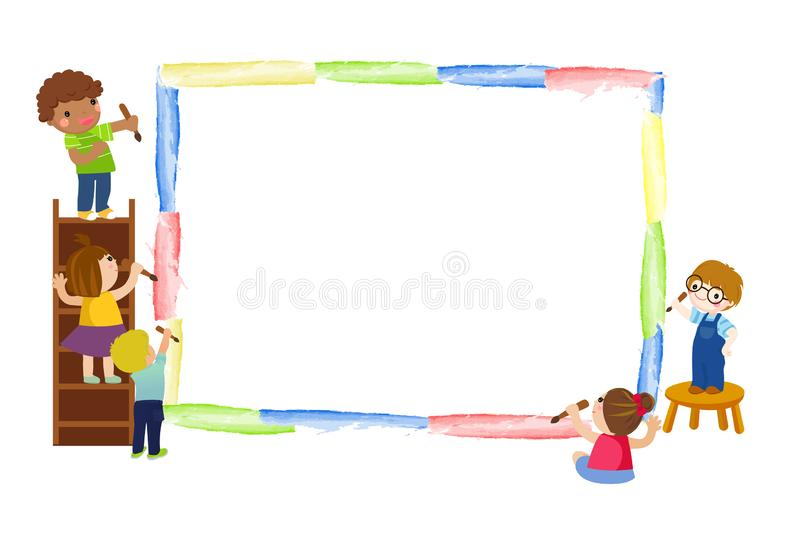 dzieci się malować ilustracja wektor