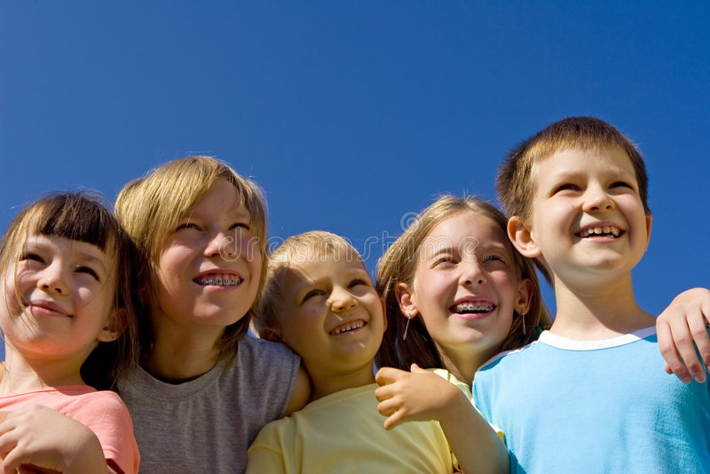 dzieci się uśmiecha obraz royalty free