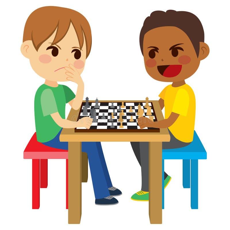 dzieci szachów grać royalty ilustracja