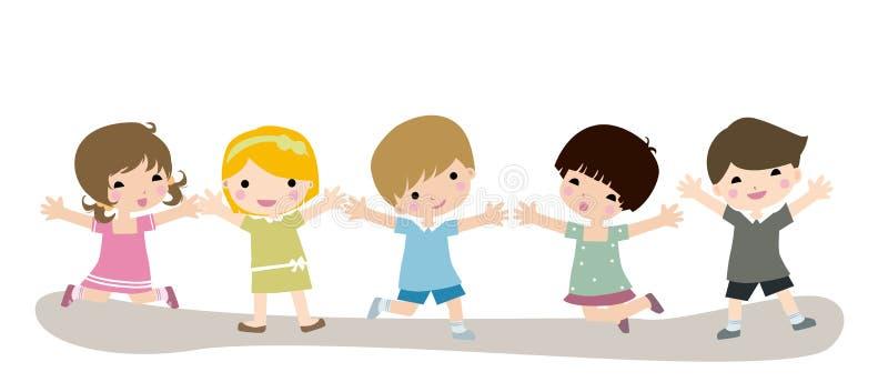 dzieci szczęśliwi ilustracji