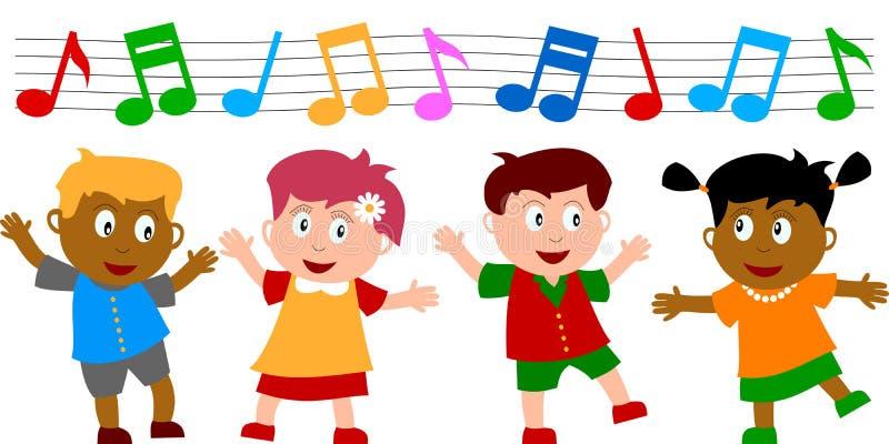 dzieci tańczyć ilustracji