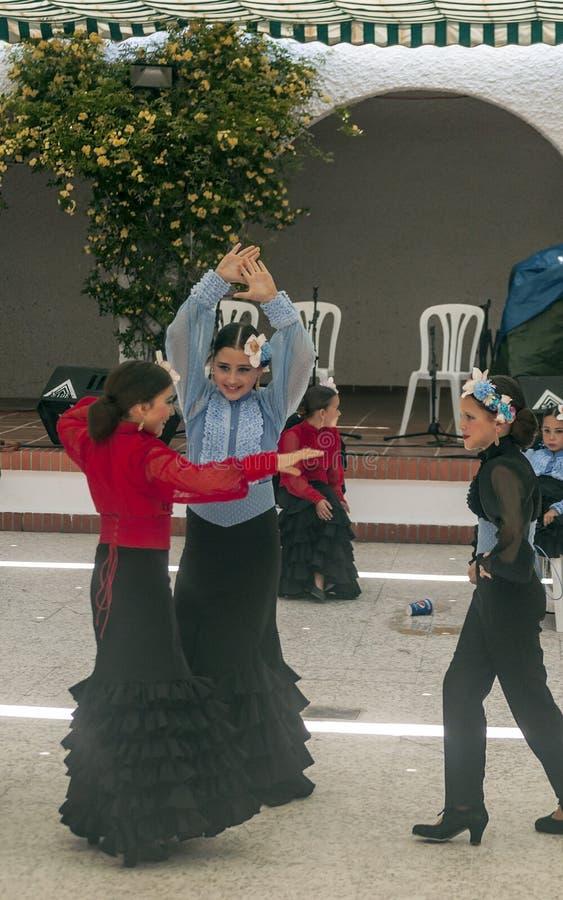 Dzieci tanczy Sevillanas fotografia royalty free