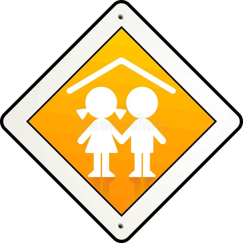 dzieci target138_0_ ilustracja wektor
