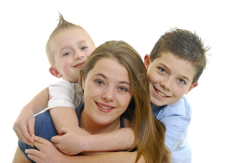 dzieci target1653_1_ matki obraz royalty free
