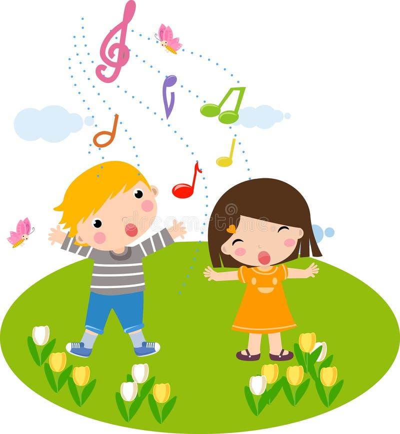 dzieci target2361_1_ royalty ilustracja