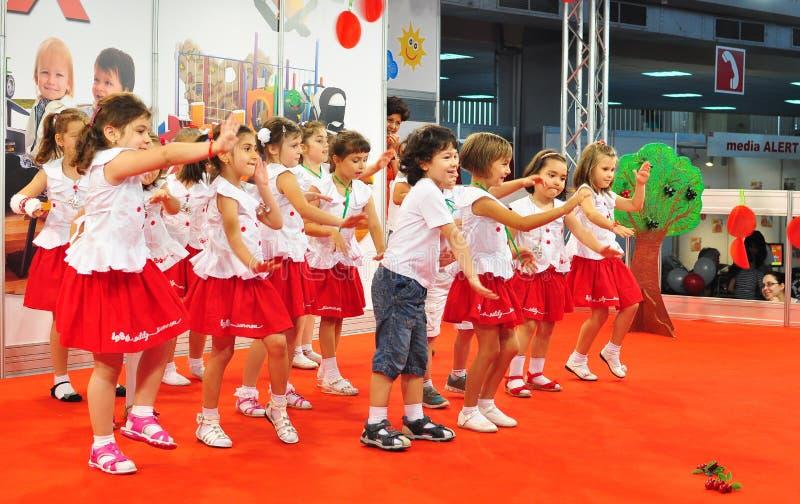 Dzieci target502_1_ fotografia stock