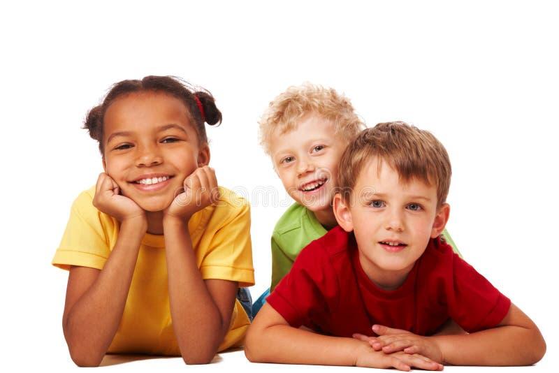 dzieci trzy obrazy royalty free