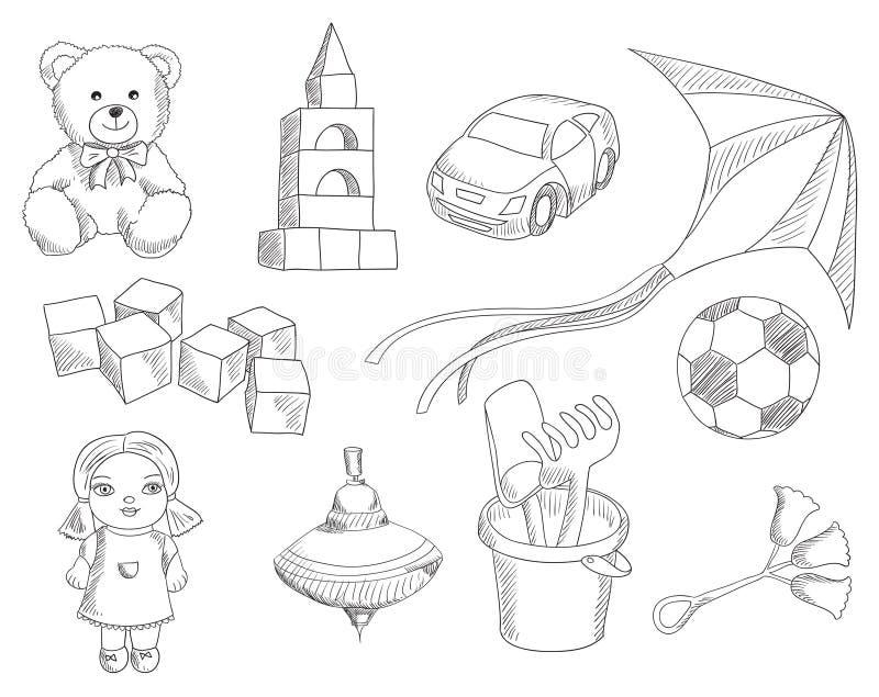dzieci ustawiać zabawki ilustracji