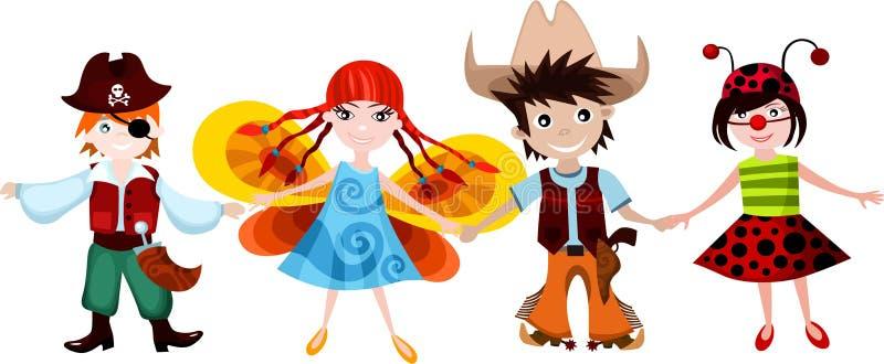 dzieci ustawiający royalty ilustracja