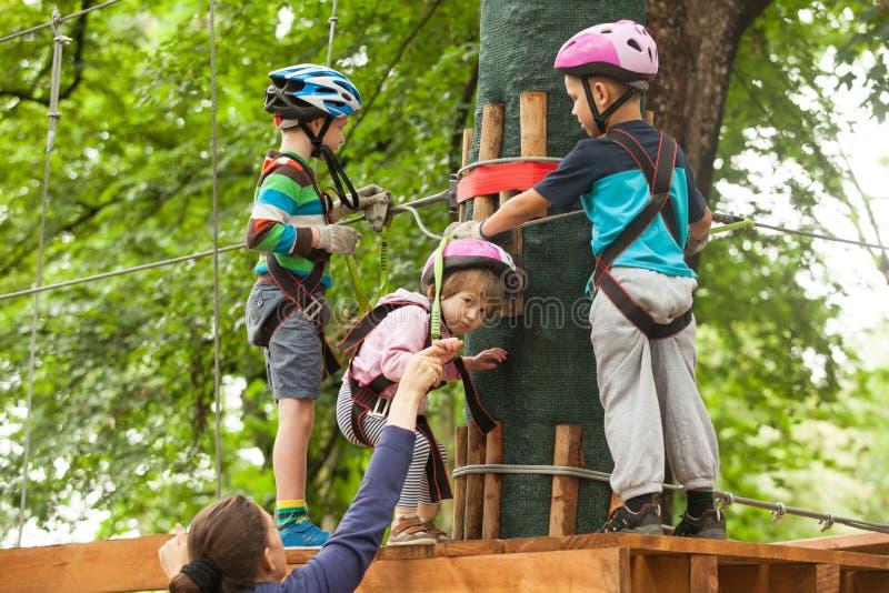 Dzieci w przygody boisku fotografia royalty free