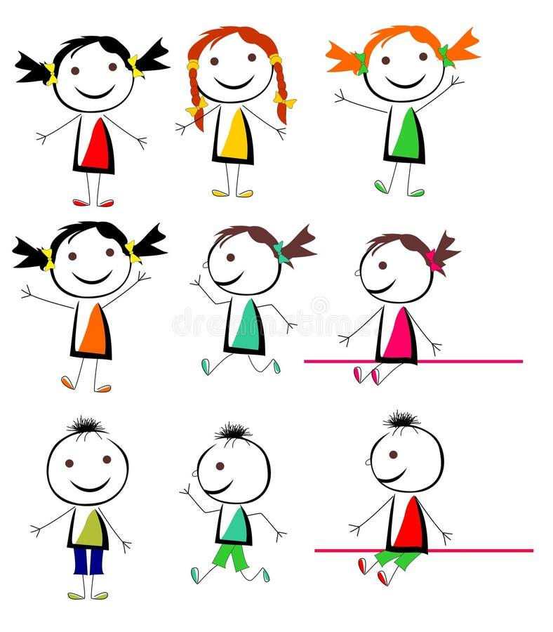 Dzieci wektorowi fotografia stock