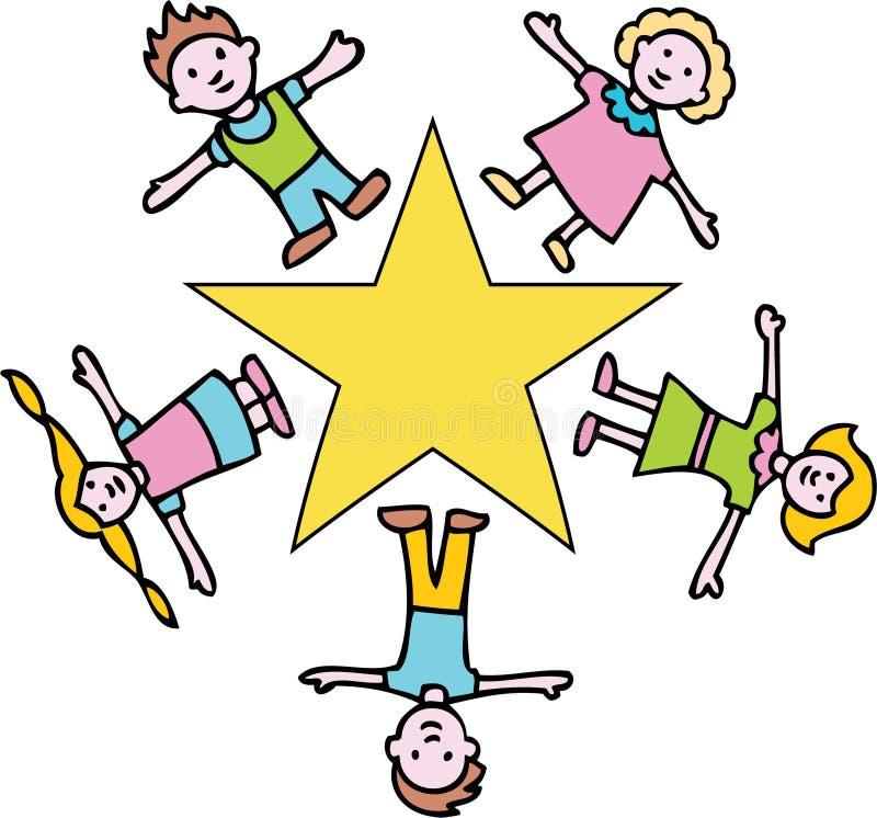 dzieci złota gwiazda ilustracji