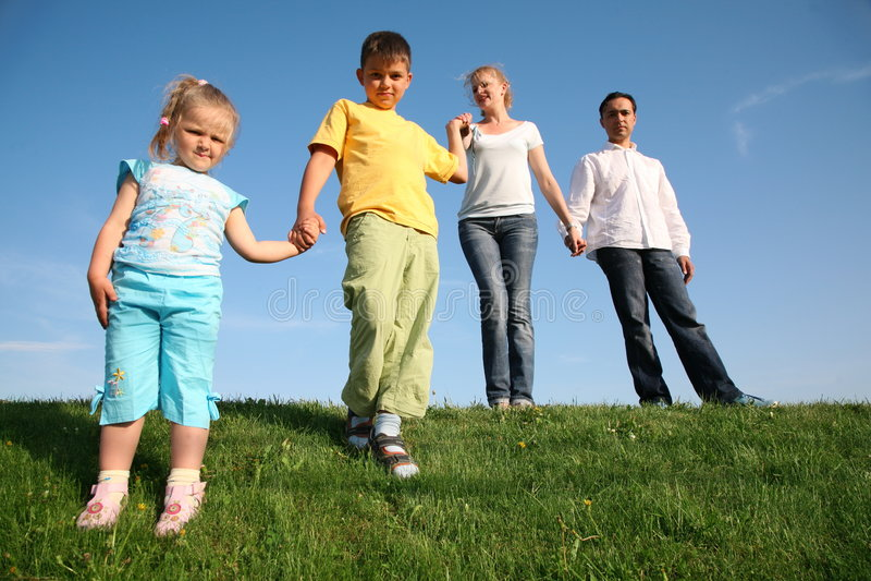 dzieci z rodziną