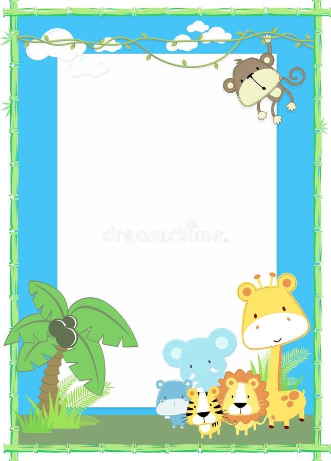 Dzieci zwierząt dżungla ilustracja wektor