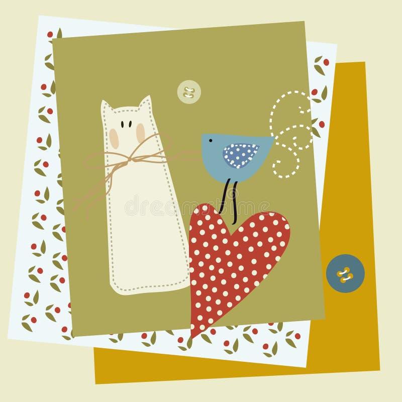 Download Dzieci, Zwierzęta, śmieszny Patchwork Ilustracji - Ilustracja złożonej z kwiat, arte: 57670952