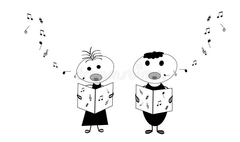 Dzieciaków śpiewać ilustracja wektor