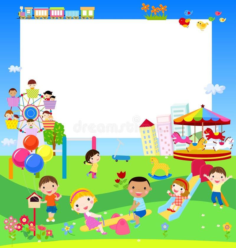Dzieciaków bawić się ilustracja wektor