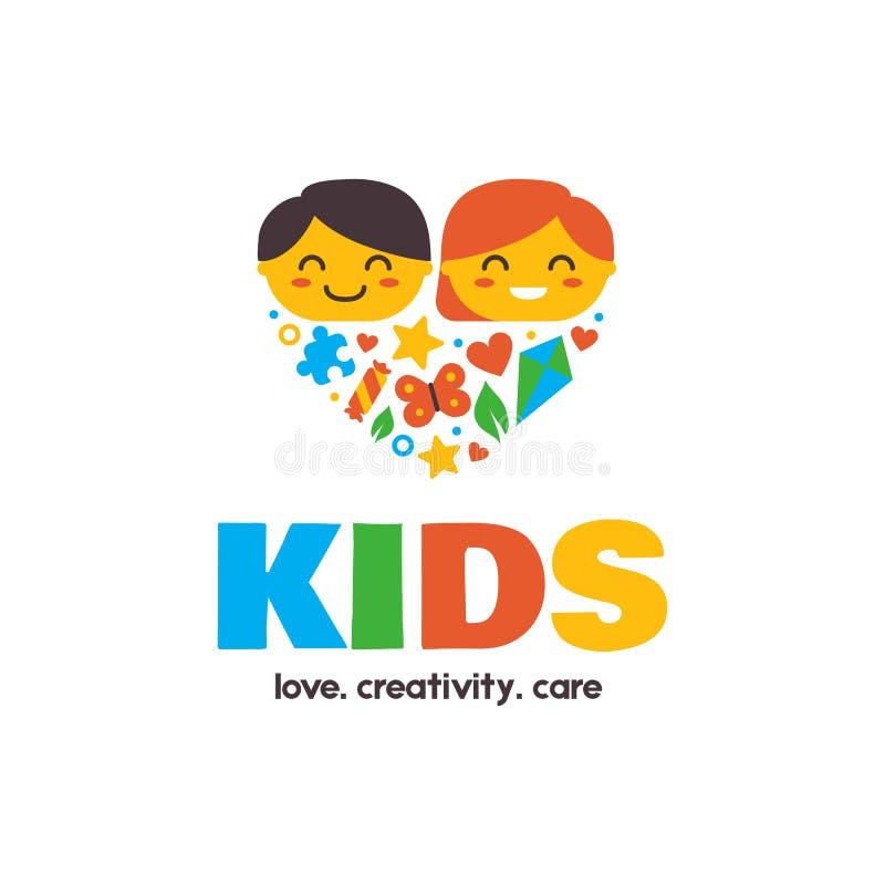 Dzieciaków charakterów znak ilustracji