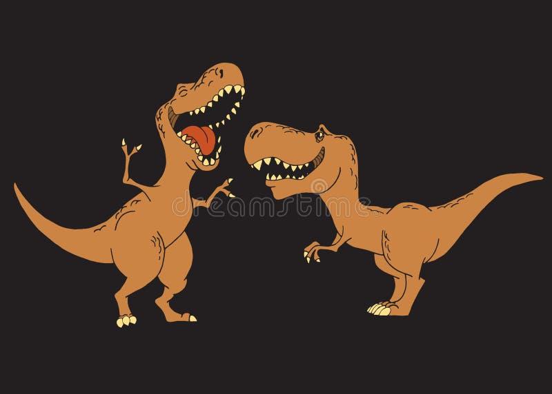 Dzieciaków dinosaury są uśmiechnięci ilustracji