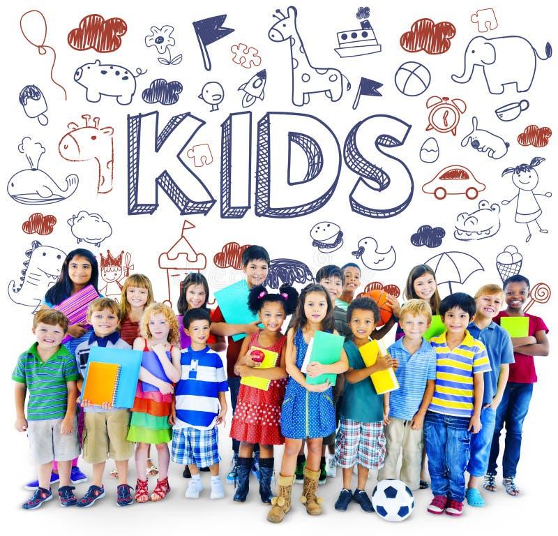 Dzieciaków dzieci radości dziecka Szczęśliwy pojęcie obrazy stock