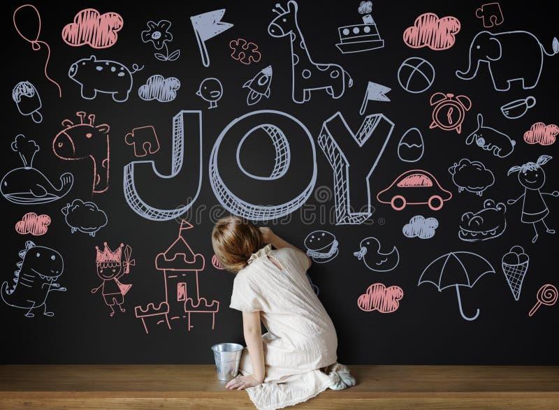 Dzieciaków dzieci radości dziecka Szczęśliwy pojęcie fotografia royalty free