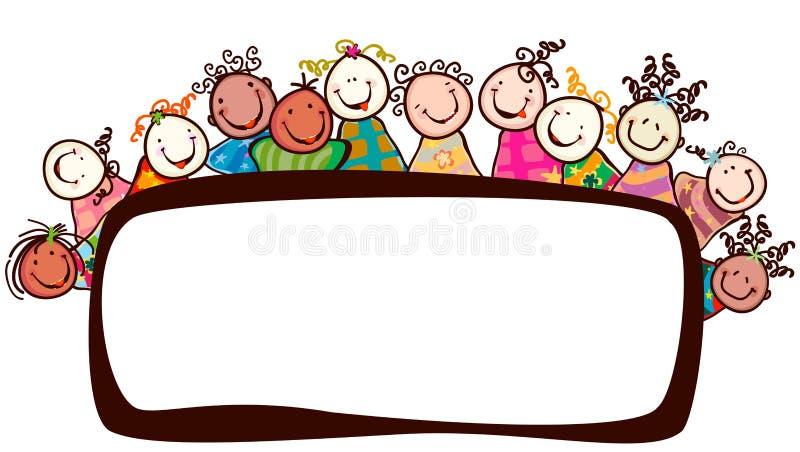 dzieciaków ja target1430_0_ ilustracja wektor