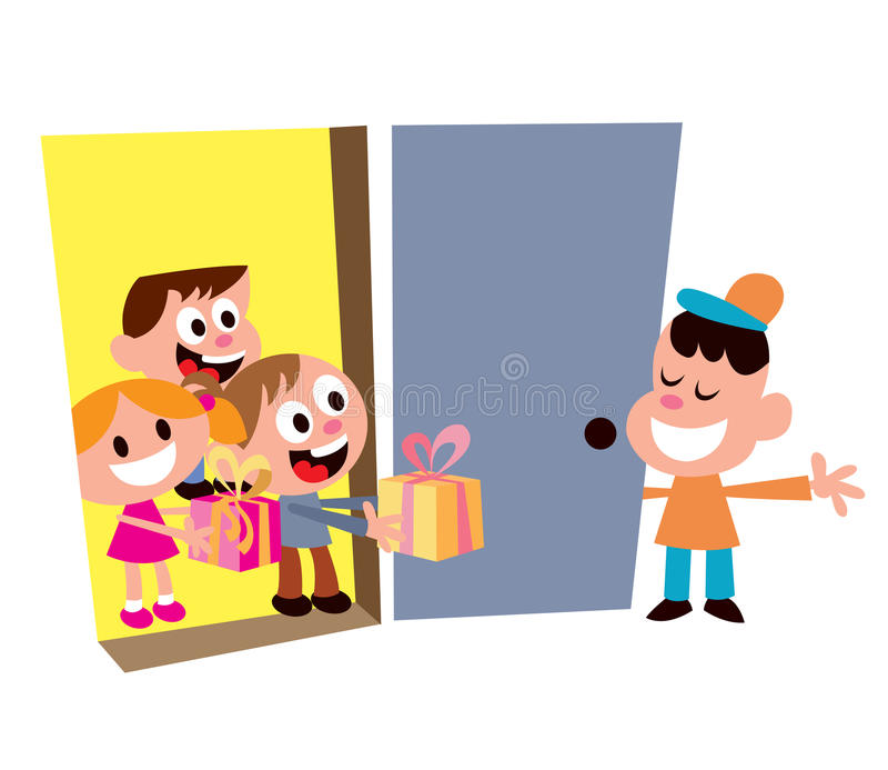 Dzieciaków przyjęcia powitania goście royalty ilustracja