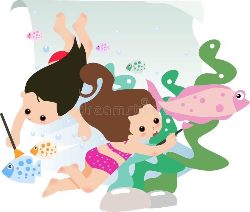 dzieciaków target1812_1_ ilustracja wektor