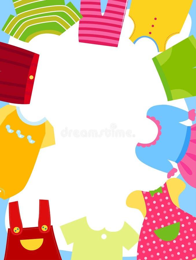 Dzieciaków ubrań rama ilustracja wektor
