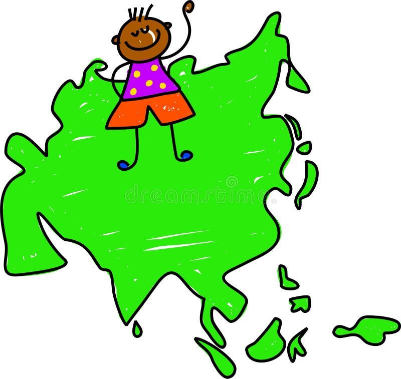 dzieciak azjatykci royalty ilustracja