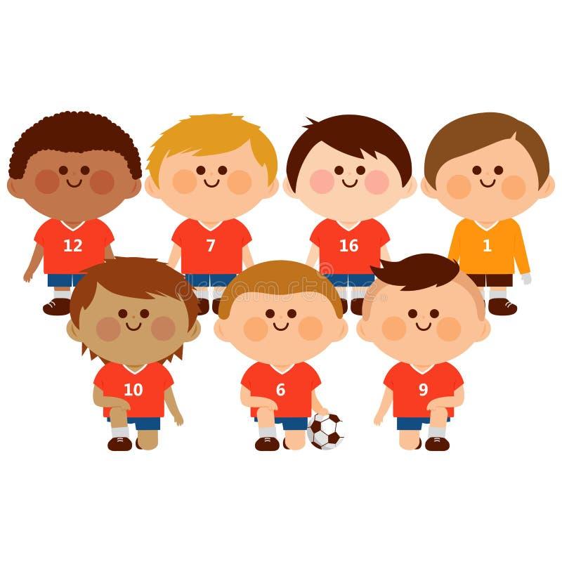 Dzieciak drużyna futbolowa royalty ilustracja