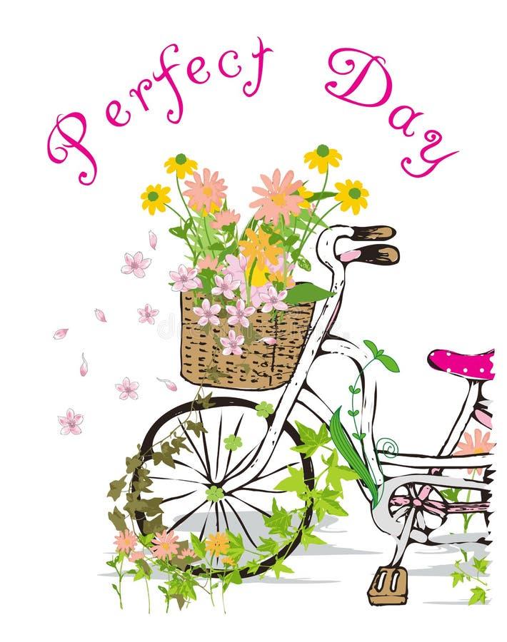 Dzieciak dziewczyny rower royalty ilustracja