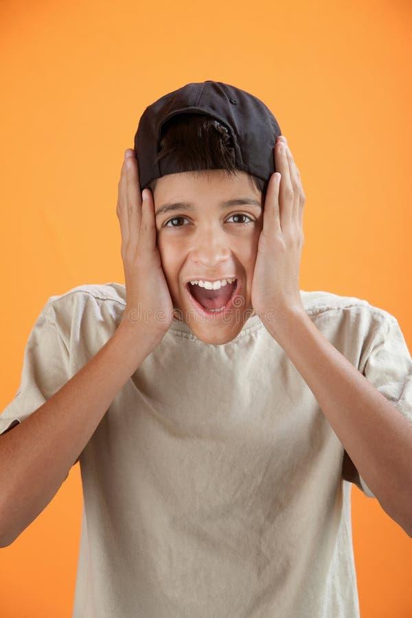 dzieciak ekscytujący zdjęcie stock