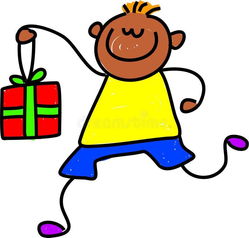 dzieciak giftbox royalty ilustracja