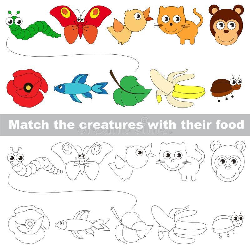 Dzieciak gra znajdować istotną parę przedmioty ilustracja wektor