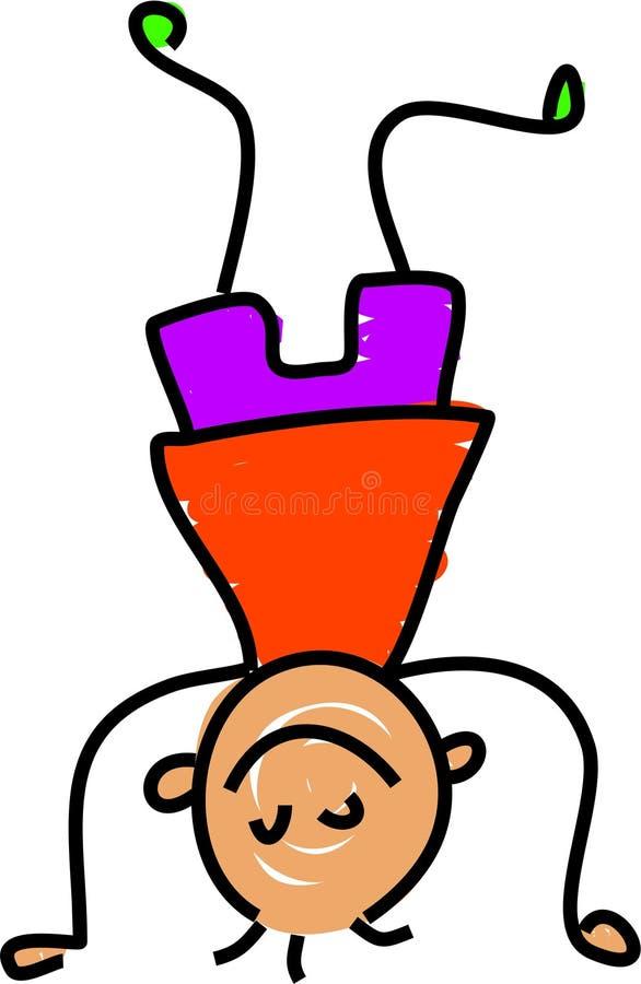 dzieciak headstand royalty ilustracja