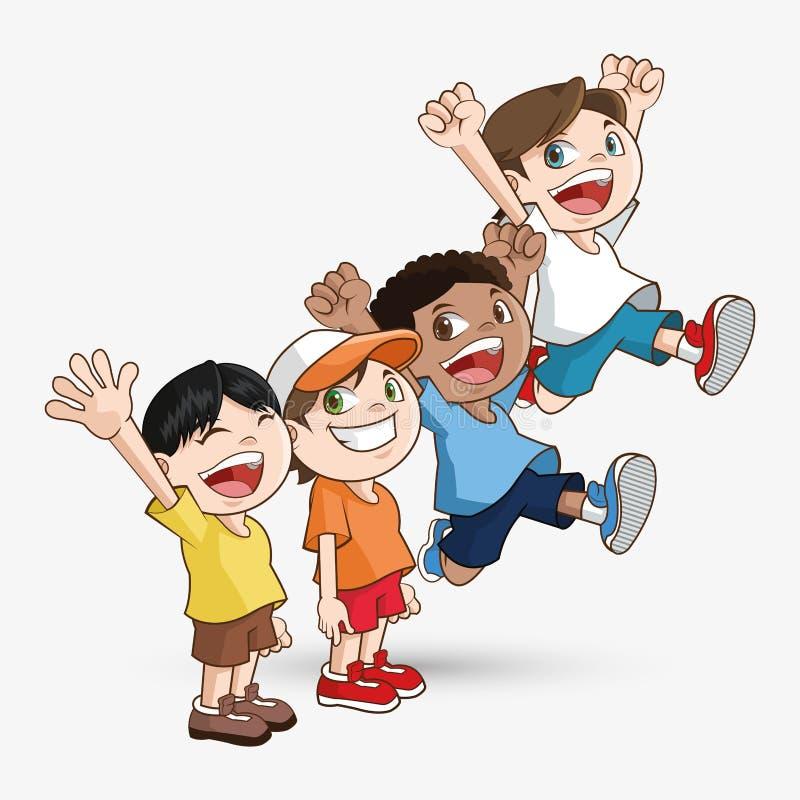 Dzieciak ikona Dziecko projekt Dzieciństwa pojęcie ilustracji