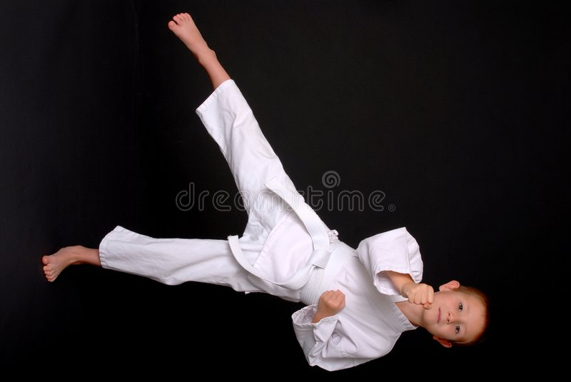 dzieciak karate. fotografia royalty free