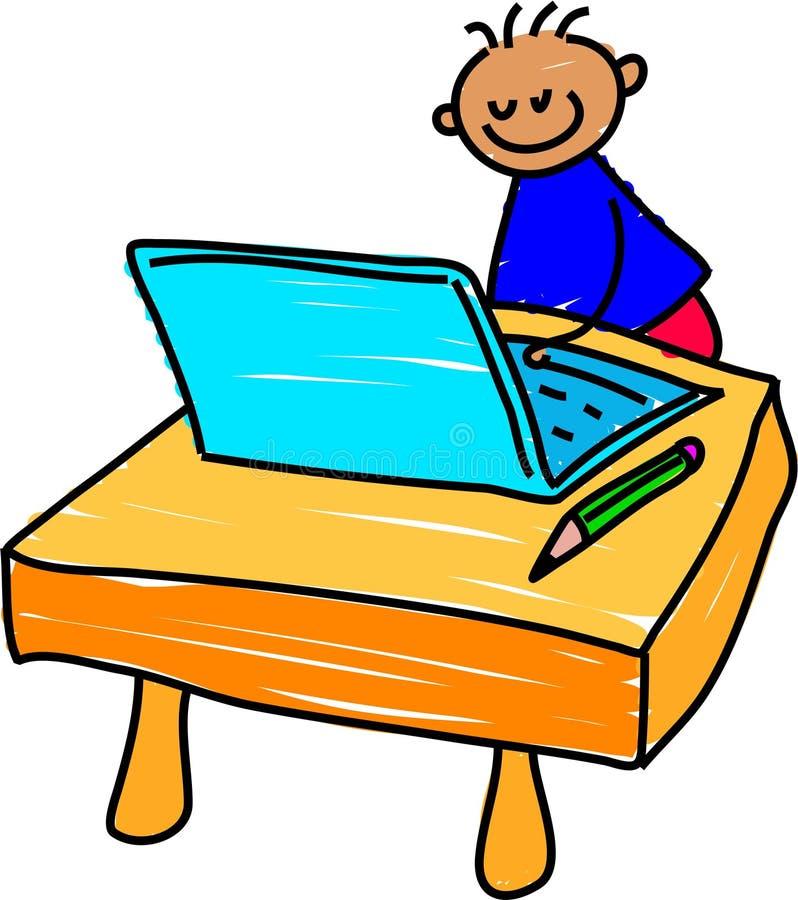 dzieciak komputerowy royalty ilustracja