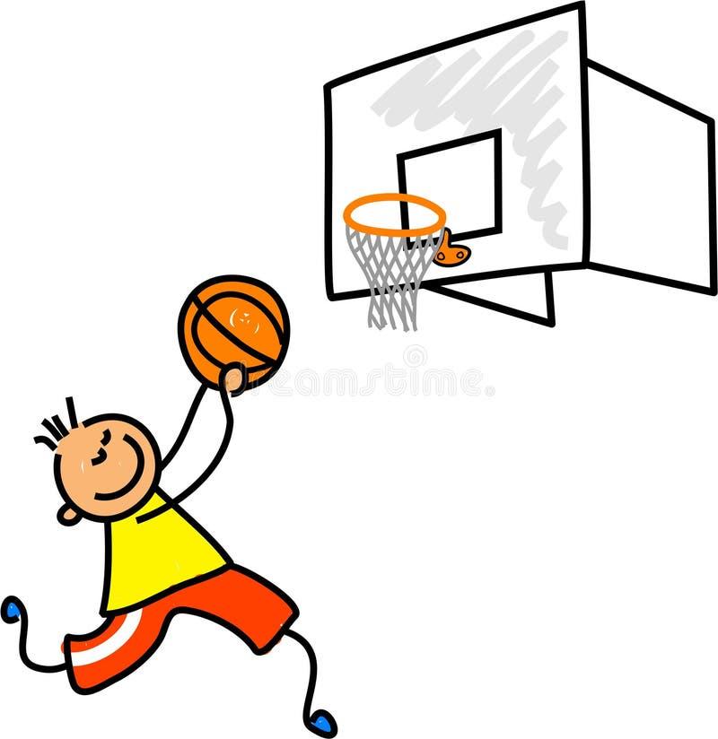 dzieciak koszykarz ilustracji