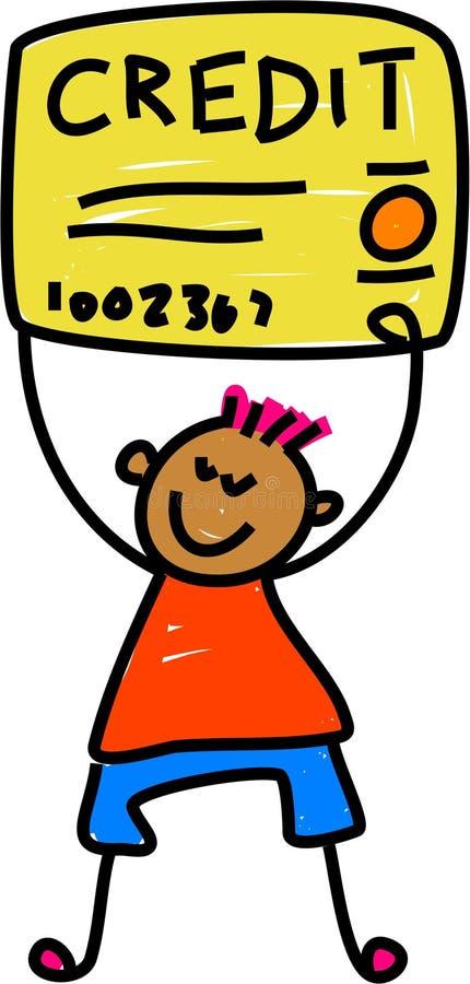 dzieciak kredytu royalty ilustracja