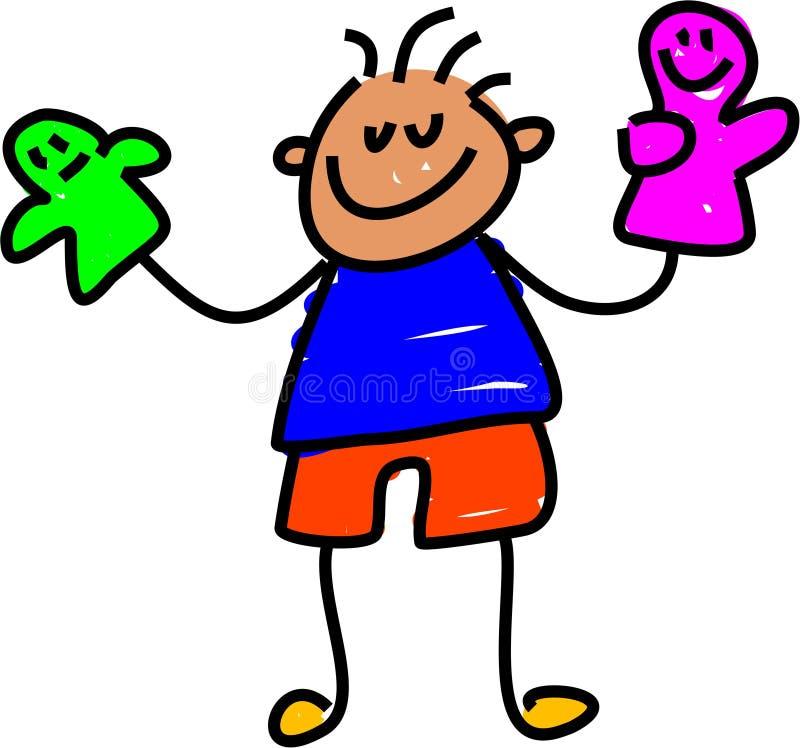 dzieciak lalki royalty ilustracja
