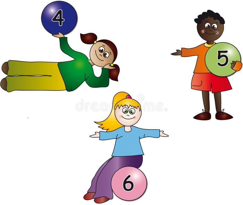 dzieciak liczby ilustracji